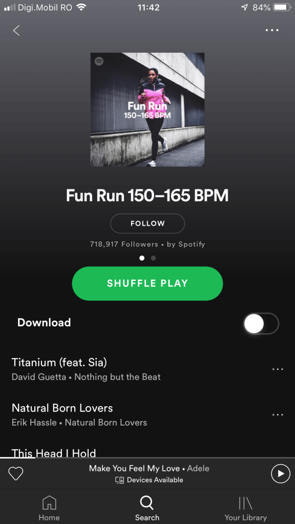 work out spotify playlist