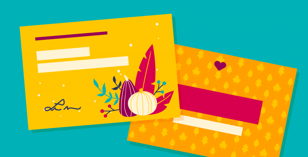 Thanksgiving cards graphic design