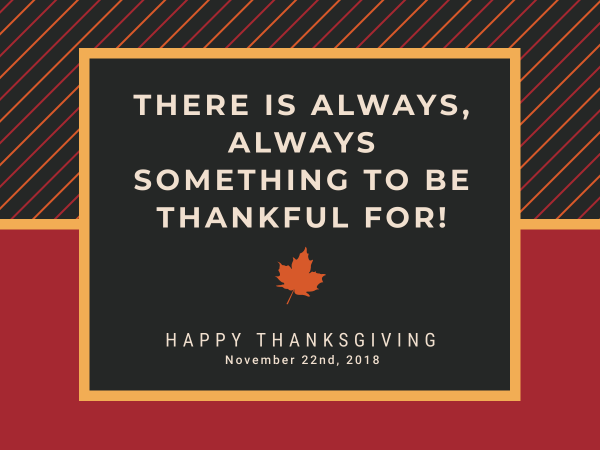 always be grateful thanksgiving card