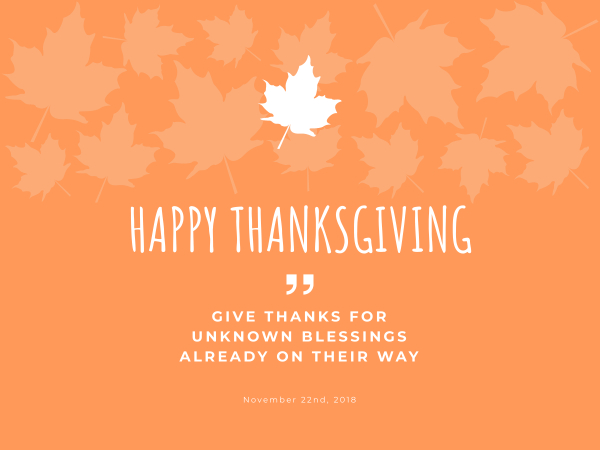 happy thanksgiving blessing card