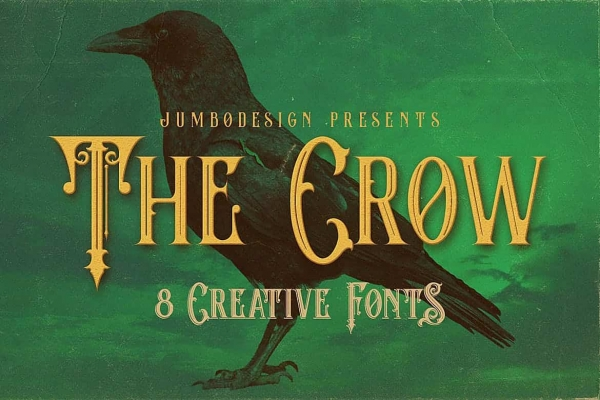the crow halloween font