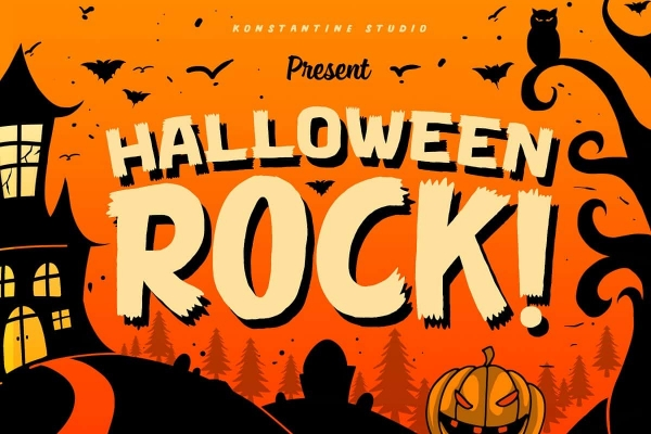 halloween rock font