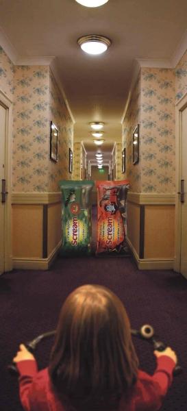 soreen scream halloween advertising