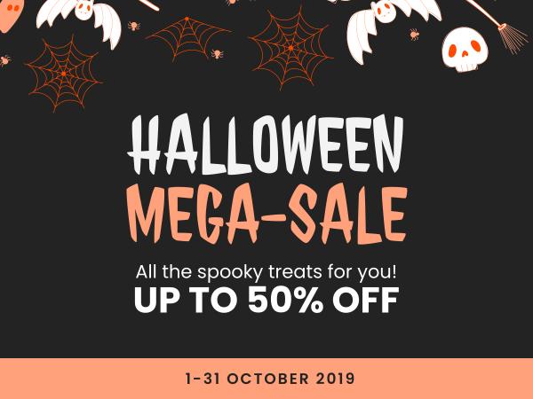 halloween mega sale banner