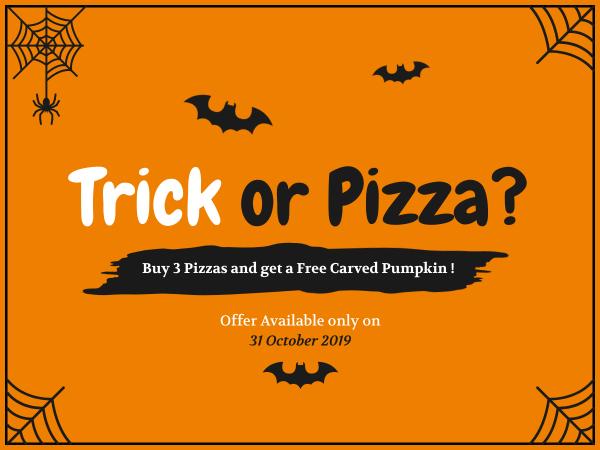 pizza halloween banner