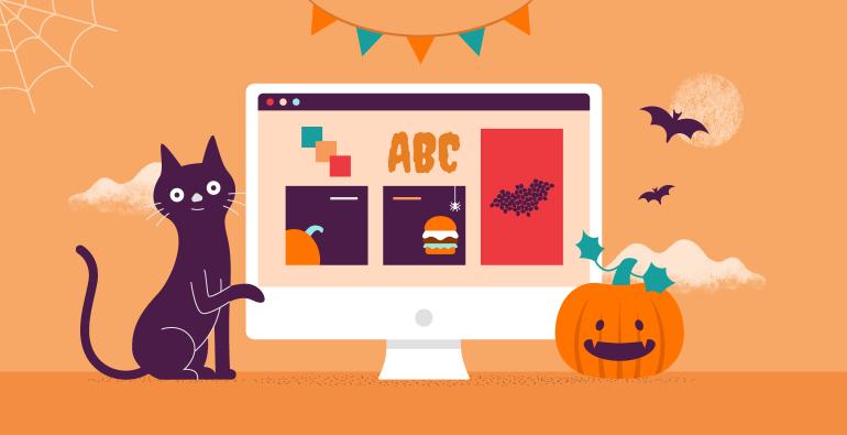 Halloween banner advertising