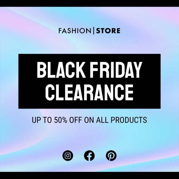 black friday clearance banner