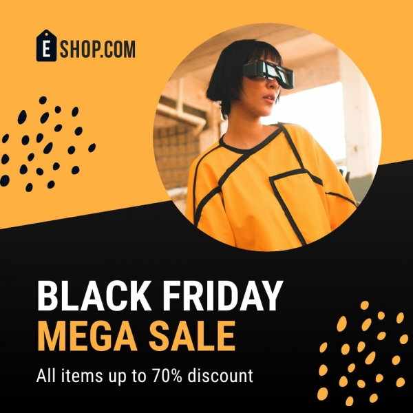 black friday mega sale banner