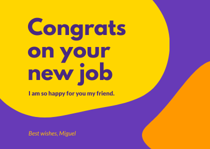 Congratulations Cards Bannersnack Template New Job