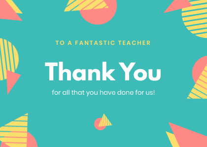 Thank You Card Template Bannersnack triangles
