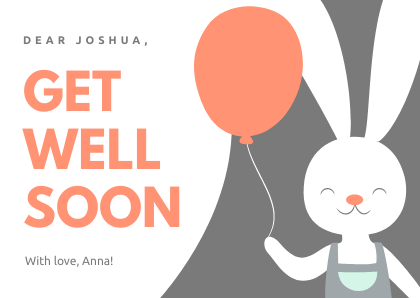 Get Well Card Bunny Bannersnack Card Template