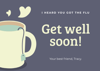Get Well Card Coffee Mug Bannersnack Card Template