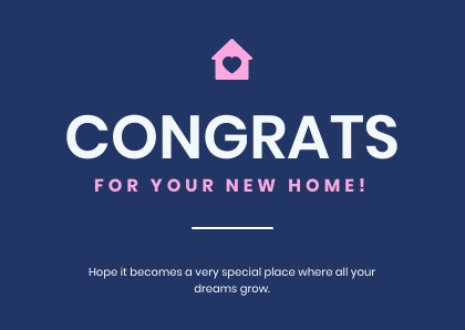 New Home Cards Bannersnack Template Blue