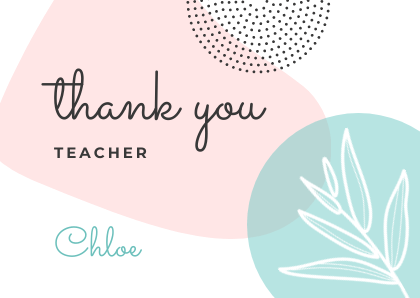Thank You Card Template Bannersnack Flower Print