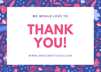 thank You Card Template Bannersnack website