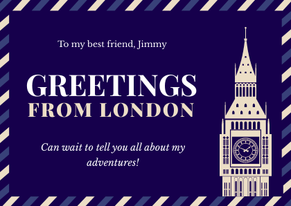Travel Greeting Cards Bannernack Template London