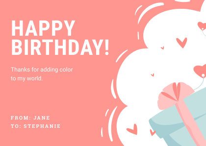Birthday Greeting Card Template Bannersnack Color