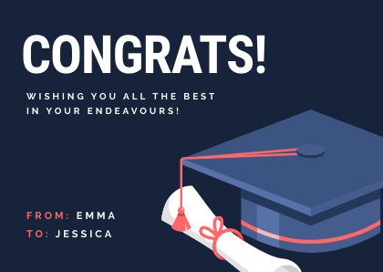 Congratulations Cards Bannersnack Template Graduation