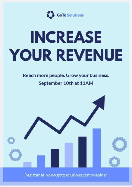 increase your revenue flyer template
