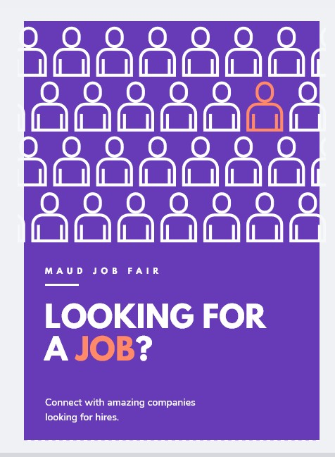 looking for a job flyer template