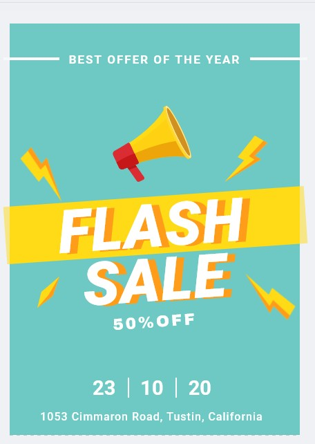 flash sale flyer example