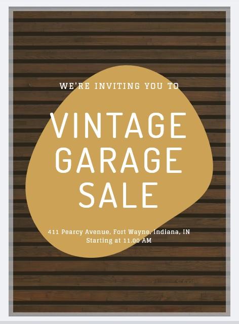 garage sale flyer design
