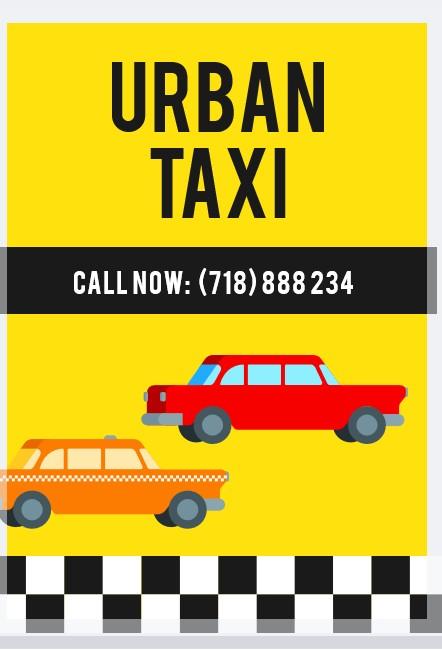 taxi flyer design template
