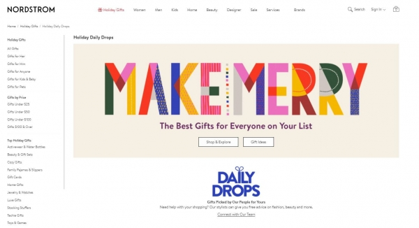 nordstrom gift ideas promotion strategy
