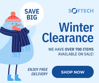 winter clearance christmas sale template