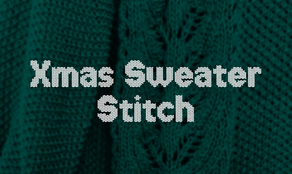 xmas sweater stich ugly sweater font
