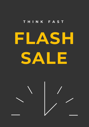 flash sale flyer design template