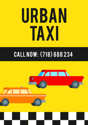 taxi flyer design template
