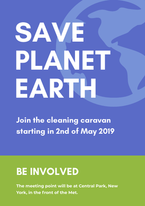 save the planet flyer design