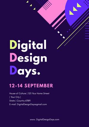 digital event flyer template