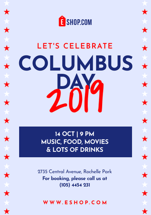 columbus day flyer template