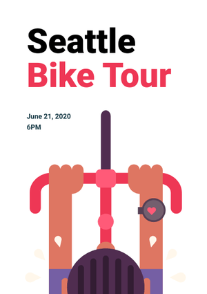 bike tour flyer design