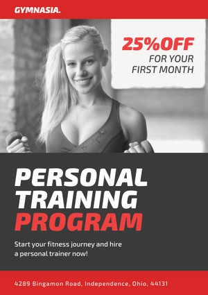personal training flyer design