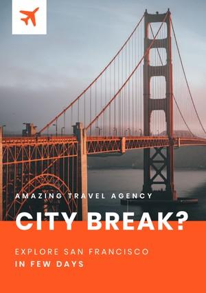 city break flyer template