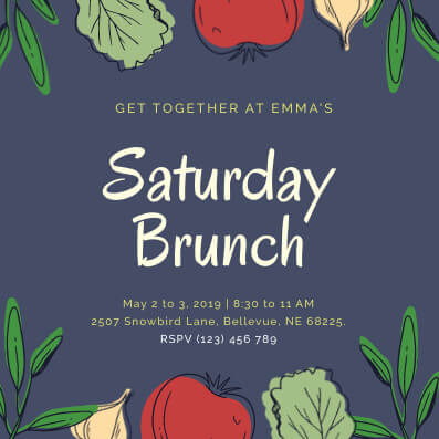 Saturday Brunch Invitation Template