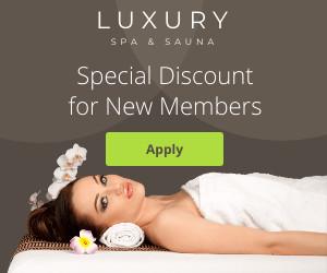 luxury sauna template ad