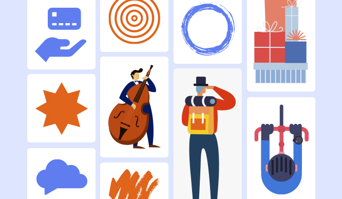 +3000 Curated Icons, Illustrations, and Shapes