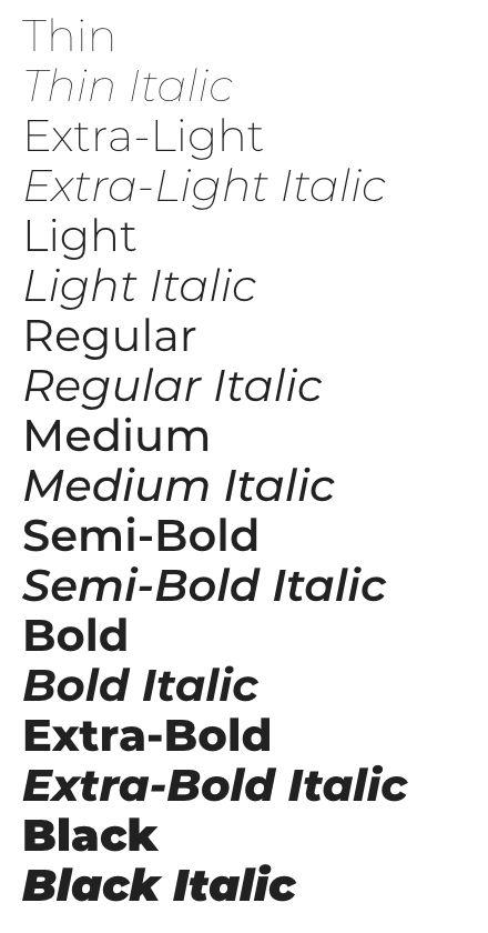 montserrat font