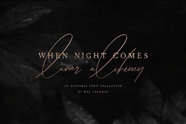 when night comes handwritting font