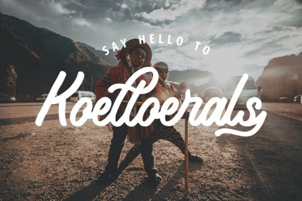 koeltoerals hand letter font