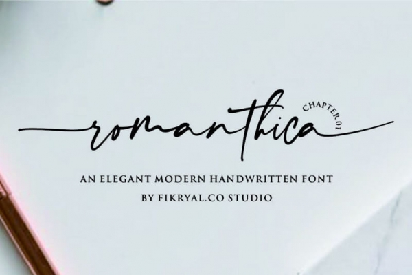 romanthica hadwritting font