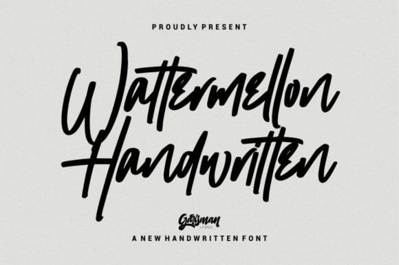 wattermellon handwritting font
