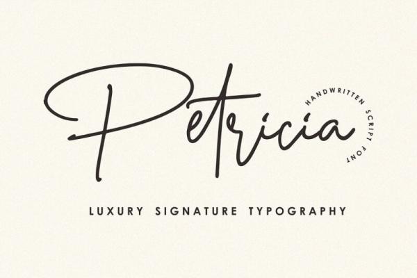 petricia handwritting font