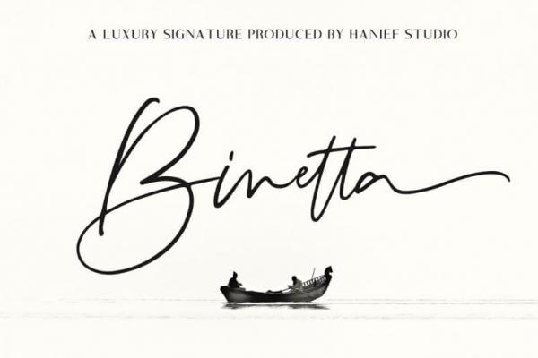 binetta lettering font