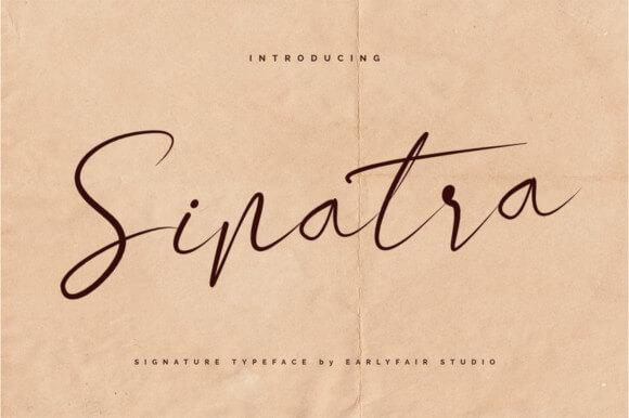 sinatra lettering font