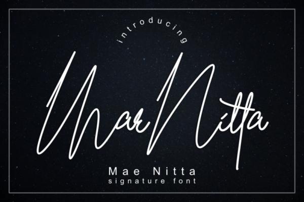 maenitta lettering font
